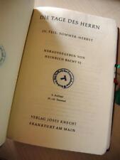 Gebetbuch / Bacht  TAGE DES HERRN - III. Teil - Sommer - Frankfurt 1962  (#B1#)