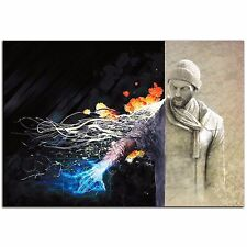 Ben Evolving: Sci-Fi Graphic Artwork Urban Man Science Fiction Wall Art on Metal