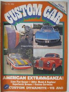 Custom Car April 1973 Chevrolet Corvette Austin A40 Fiat X1/9 Granada Mk1 DAF 66