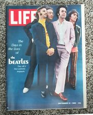 Beatles SEPT 13,1968 ISSUE OF LIFE MAGAZINE WITH BEATLES ON THE COVER! STORIES!
