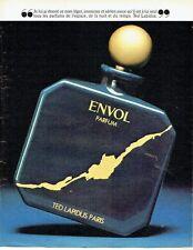 PUBLICITE ADVERTISING 027  1981   parfum Envol par Ted Lapidus
