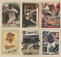 ⚾️Miguel Sano 6-CARD LOT including ROOKIE 2016 Topps Bunt #96, Minnesota Twins