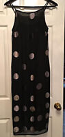 "Evening dress Black with Silver dots size 6 "" TESSUTO"" brand"