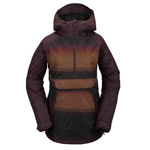 Volcom Womens Mirror Pullover Shell Technical Snow Jacket Stripe