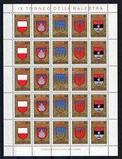 San Marino 1070/4 Kleinbogen ** 9. Armbrustturnier 1974 Wappen