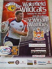 1.7.07 Wakefield Trinity Wildcats v Wigan Warriors rugby league programme