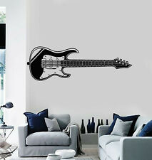 Vinyl Wall Decal Electric Guitar Music Rock Pop Instrument Stickers (g1732)