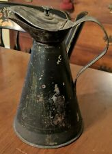 New listing Antique Toleware Molasses Pitcher Jug 19th Century Painted Tin