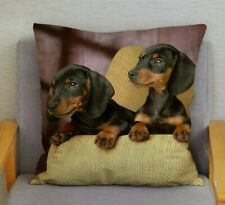 Cute Soft Dachshund Cushion Cover Large Sausage Dog Lover Novelty Gift