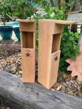 Owl Nesting Box - Screech Owl House cedar bird house