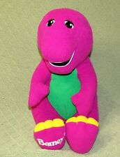 "PLAYSKOOL Talking BARNEY Vintage 1996 16"" Interactive Plush Stuffed Purple Toy"