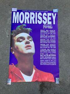 1991 Massive Morrissey UK Tour Concert Poster Vintage The Smiths Original