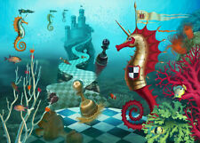 Undersea Castle Seahorse Knight Chess 500 Pcs Jigsaw Puzzle DIY Educational Toys