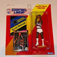 1992 Starting Lineup CLYDE DREXLER Portland Trailblazers NBA Action Figure HOF
