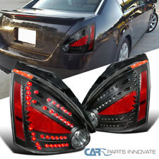 For 04-08 Nissan Maxima Black LED Rear Brake Parking Lamps Tail Lights Pair DEPO