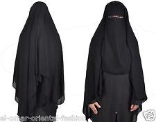 Saudi Niqab Hijab Burqa Islamic Face Cover Veil Burka Khimar Abaya Muslim, 382