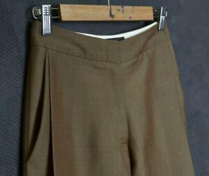 Sophie Hulme Women Pants S sz 6 W25 L27 60% Kid Mohair Trouser 40% Wool England