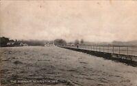 Lake Simcoe- Beaverton Ontario ON Vintage Real Photo Postcard 1924-
