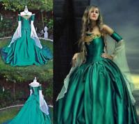 Vintage Medieval Renaissance Ball Gown Evening Princess Dresses Prom Formal Gown