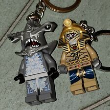 Lego lot 2 keychains Atlantis Hammerhead Guardian and  Pharaoh's Quest Amset-Ra