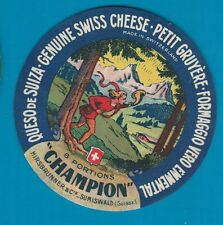 VERY RARE cheese label  ettiquette Fromage formaggio Kase Kaas Ost #165