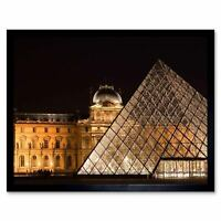 Photo Architecture Louvre Gallery Paris France Pyramid Gate 12X16 Framed Print