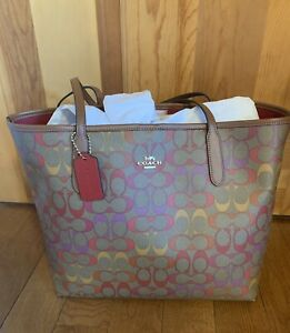 Coach Rainbow Signature Tote NWT