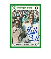 Bubba Smith Michigan State MSU Spartans football signed card DECEASED 1965 f