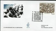 ITALY 2015 70th ANN.of LIBERATION/II WORLD WAR/FOSSE ARDEATINE MASSACRE FDC