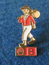 Vintage Enamel Badge - Shell Oil - Man