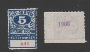 USA Telephone Telegraph stamp 9-12 one stamp F & B - Hudson River #641 scarce