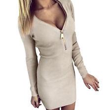 Damenkleider mit V-Ausschnitt und Kurzgröße in Größe 38