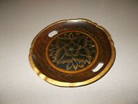Wood tray handcrafted tole ware style hand painted folk art 10.5 inch pre owned