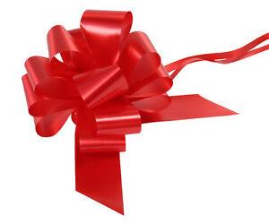 Eleganza Poly Ribbon Pull Bows Pk 20 - Floristry, Weddings, Craft 50mm Width