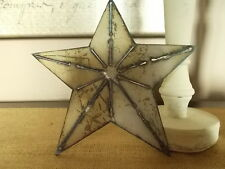 "New Handcrafted Rustic Steel Star 8"" Shabby White Paint"