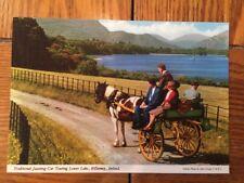 POSTCARD UNUSED IRELAND, KILLARNEY, Co. KERRY-TRADITIONAL JAUNTING CAR