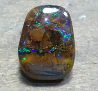 Natural Boulder Opal 4.59 ct Solid Australian Gemstone  SEE VIDEO