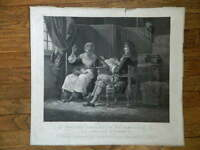 Grabado Estampa Horace Vernet Molière Consultant Su Mucama Adrien Migneret XIX