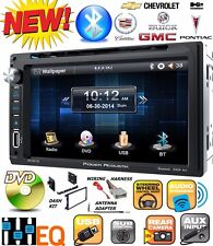 FITS GM CAR-TRUCK-VAN-SUV Cd/Dvd Bluetooth Radio Stereo Double Din Dash Kit USB