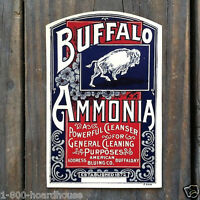 2 Vintage Original BUFFALO AMMONIA Cleaner Cleaning Bottle Label 1910s NOS
