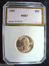 1946 Washington Silver Quarter, DIE CRACK outer Eagle's right wing & across head