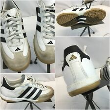 Adidas Samba Soccer Shoes Sz 8 Men White Black Stripe EUC YGI F8
