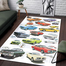 Ford* Mustang- 50 Years Of Evolution, Beautiful Rug In Living Room, Nice Decor