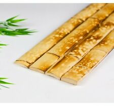 25 - 6 ft Water Burnt Bamboo Flat Plank Slats Wall Fence Tiki Bar Roof