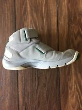 Men's Nike Air Jordan Size 10 Gray & Green Mid Top Athletic Shoes, Basketball