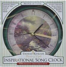 "Clock-Thomas Kinkade Bridge Of Faith w/Sound & Light Sensor (8"" Diameter)"