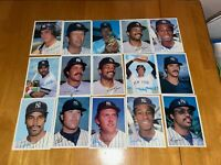 1981 TOPPS NEW YORK YANKEES 5X7 PICTURE CARD LOT WINFIELD JACKSON GOSSAGE GUIDRY