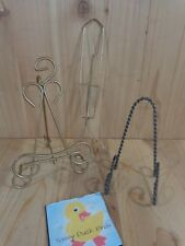 Collectible PLATE STANDS HOLDERS HANGERS Lot of 3 Metal Brass Black