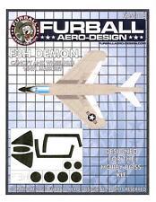 Furball Decals 1/48 MCDONNELL F3H DEMON Canopy & Wheel Hub Vinyl Mask Set