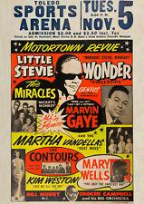 STEVIE WONDER/MARVIN GAYE - Toledo, OH (1963) - Music Concert Poster Art